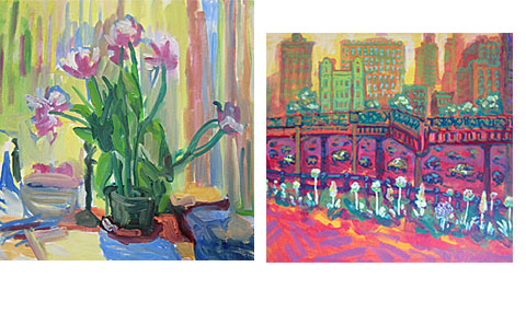 Paintings by Jane Talcott and John lloyd